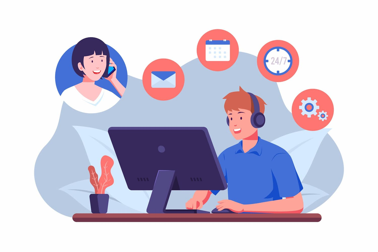 performance of call center representatives working from home